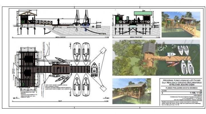 Plany zagospodarowania – realizacja zakątka żeglarskiego w rejonie jeziora Dąbie